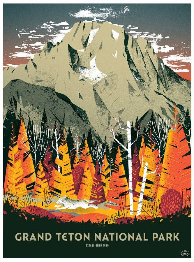 Gorgeous Us National Parks Posters By The 59 Parks Project National Park Posters Grand Teton National Park Teton National Park