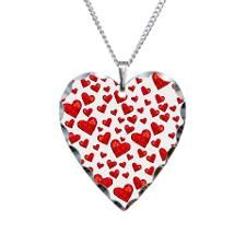 Hearts Motif Necklace Heart Charm