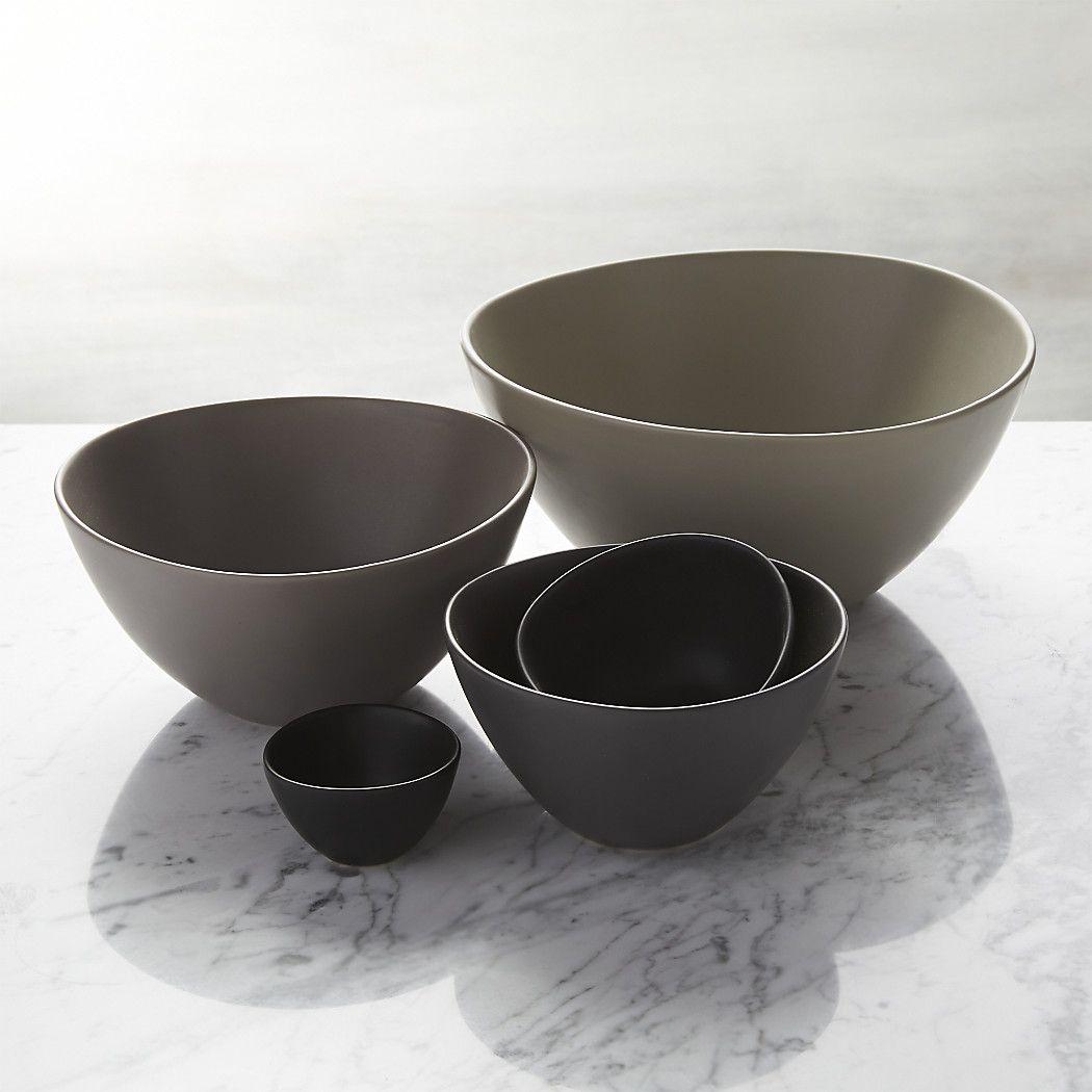 Roscoe Nesting Bowl 5 Piece Set Reviews Crate And Barrel With Images Nesting Bowls Crate And Barrel Matte Decor