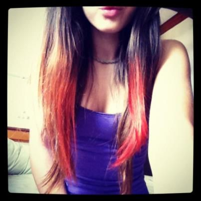 How to: dye your hair with kool-aid  1. mix a packet of kool-aid with conditioner and a drop of water.  2. paint the mixture onto hair. Wrap in tin-foil  4. wait 20mins. Blow dry hair in foil& out of foil.  5. Wash out. Blow dry. Wear(: