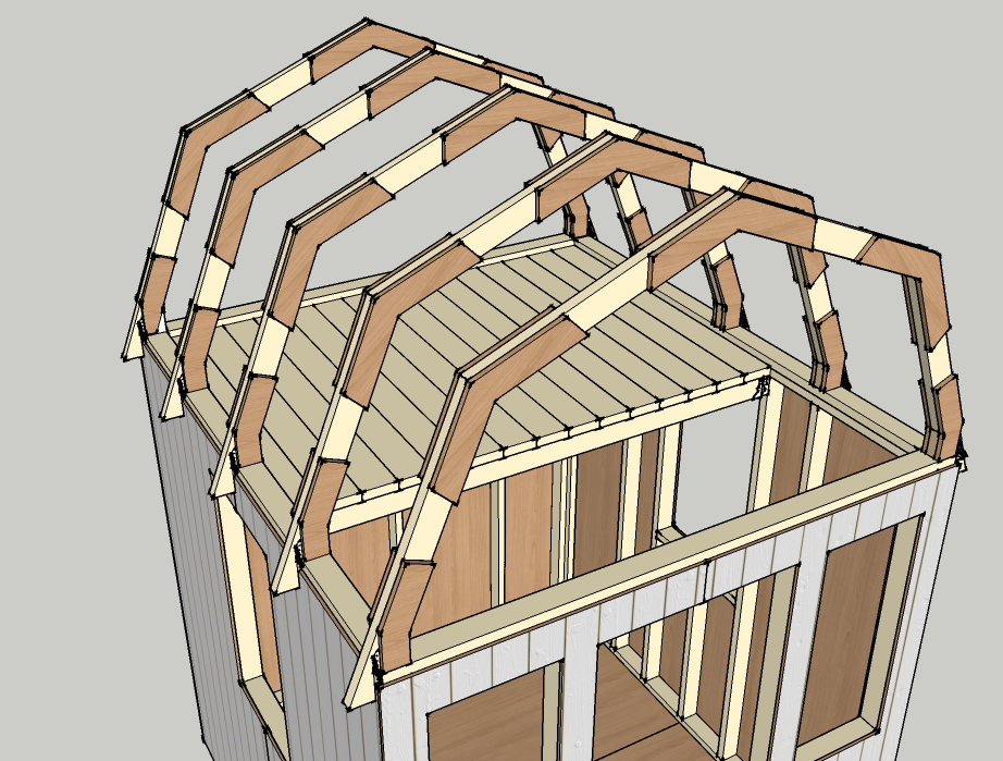 How To Draw A Gambrel Roof In Sketchup Gambrel Roof Tiny House