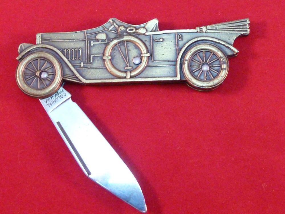Vintage Colonial Touring Car Pocket Knife #Colonial #PocketKnife