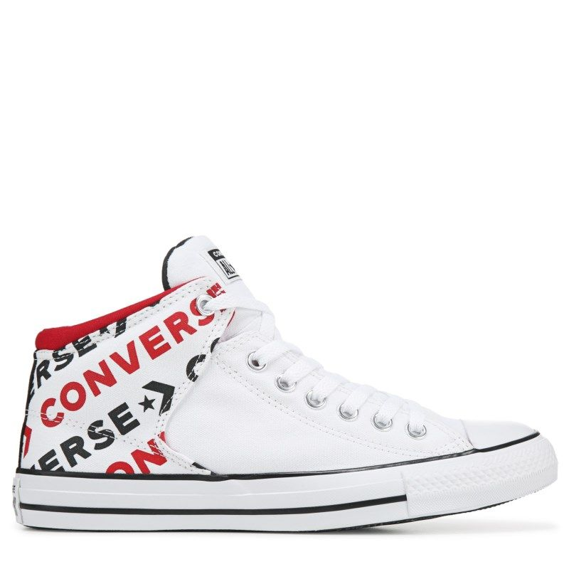 Converse Chuck Taylor All Star High Street High Top Sneakers (White/Blackl/Red)