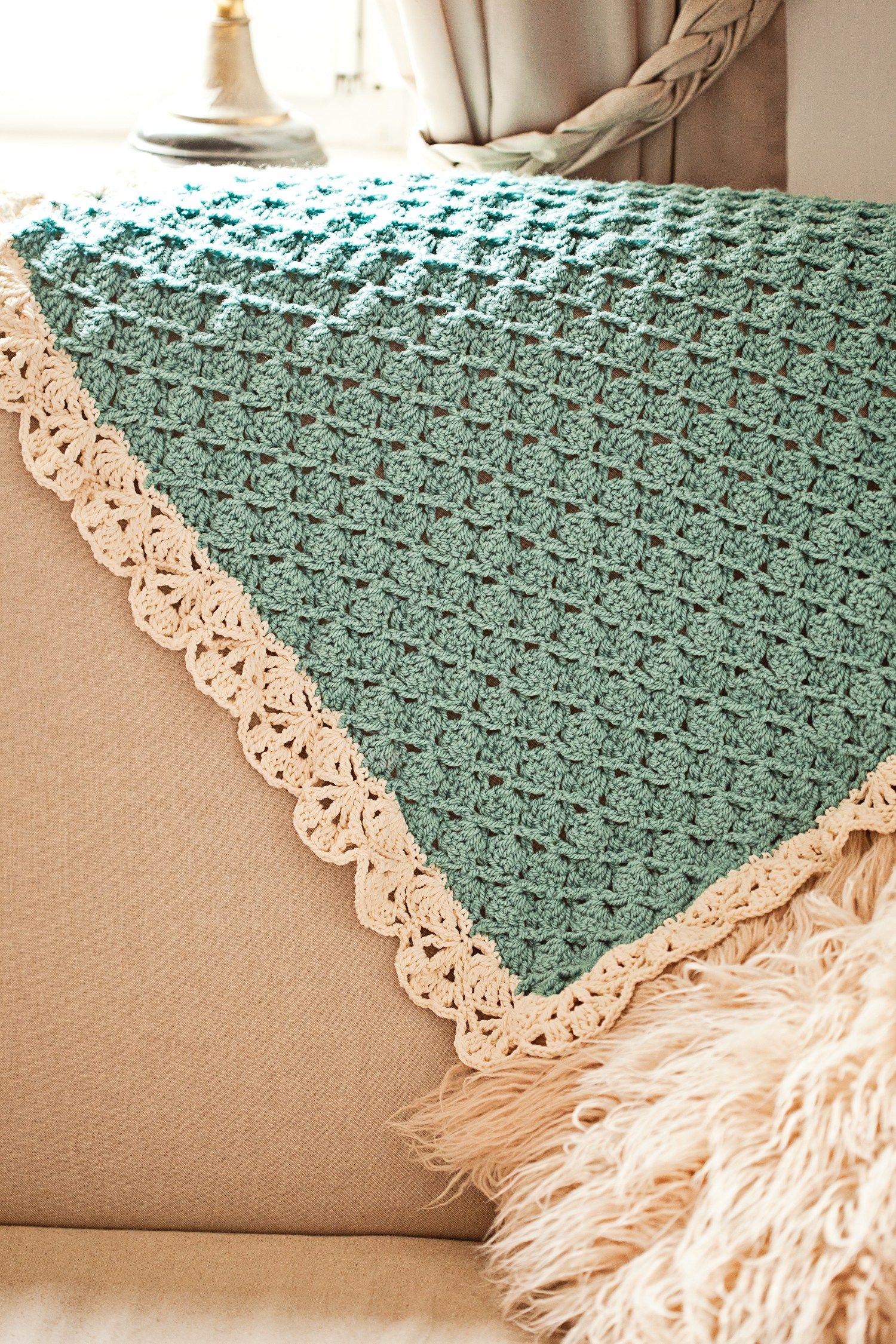 Seashell Blanket, crochet pattern by Mon Petit Violon… | crochet ...