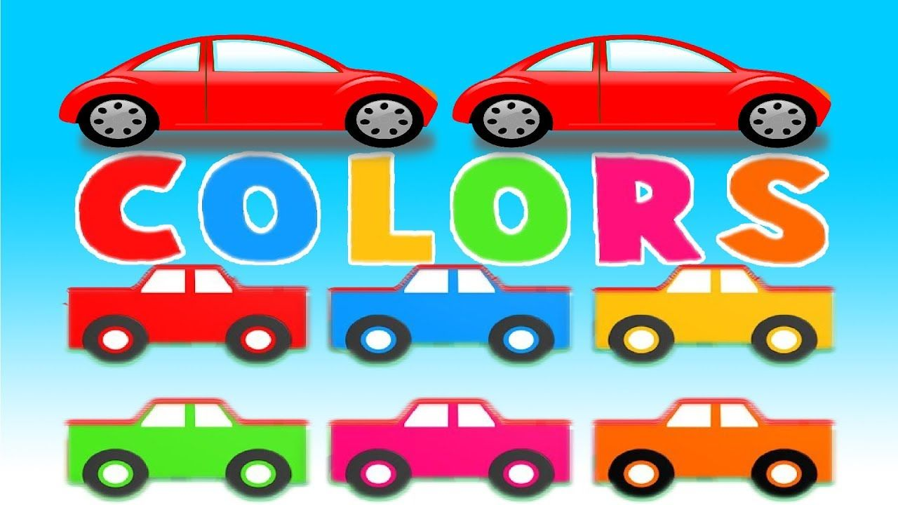 Learn The Colors With Racing Cars For Kids Cartoon Videos Learn Colour Car Cartoon Race Cars Race Car Coloring Pages