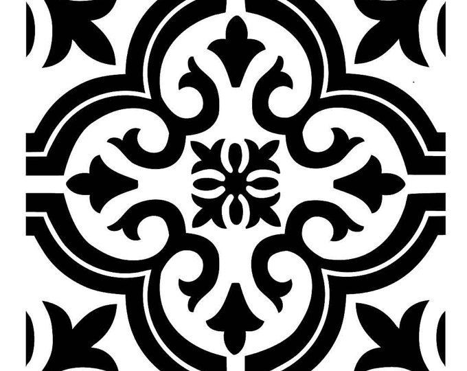 Image Result For 12x12 Painted Tile Stencil Svg Tile Stencil Stencil Painting On Walls Wall Stencil Patterns
