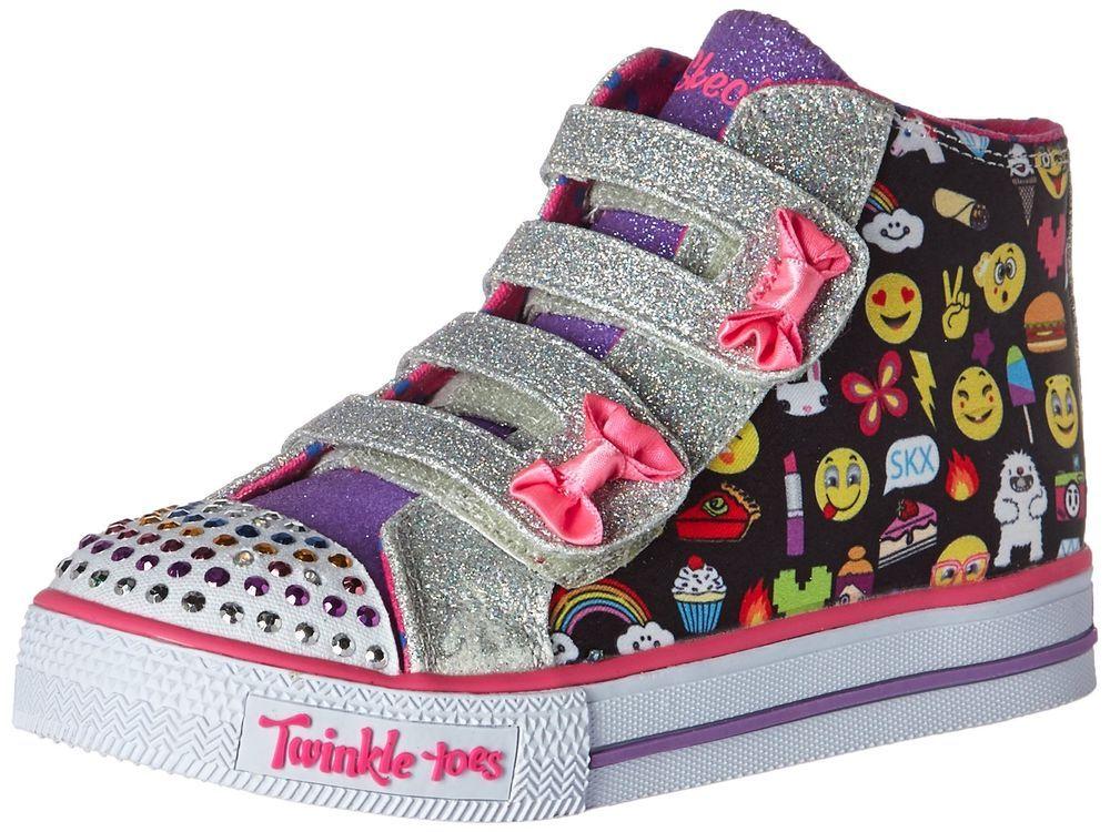 Zapatos rosas Emoji casual Skechers Shuffles infantiles 7UmXcTCI8