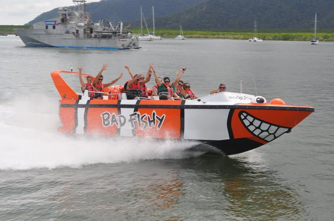 Cairns Combo: Trinity Inlet Jet Boating and Kuranda Rainforest Night Adventure Tour Enjoy excellent value for money by purchasing this Cairns combo tour with both Trinity Inlet Jet Boating and Kuranda Rainforest Night Adventure Tour. Start your day with a 35-minute jet boat rid filled with thrilling speeds, spins and slides. Then, spend an exciting evening on a four-wheel drive night tour in the World Heritage-listed Kuranda Rainforest. You'll experience life in the Aust...