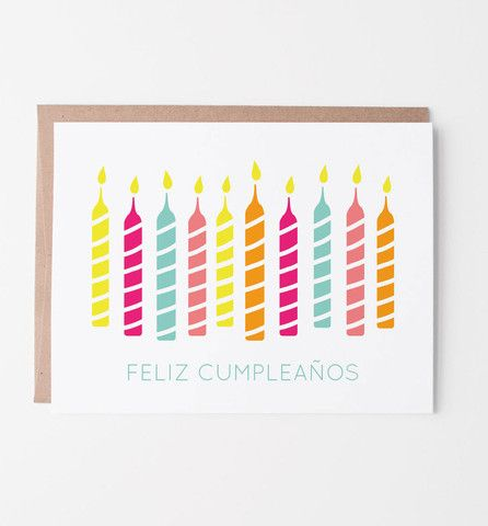 Feliz cumpleaos spanish birthday card spanish and birthdays our birthday candles card now in spanish say feliz cumpleaos to spanish speaking friends or think outside the box and send to your english speaking ones bookmarktalkfo Images