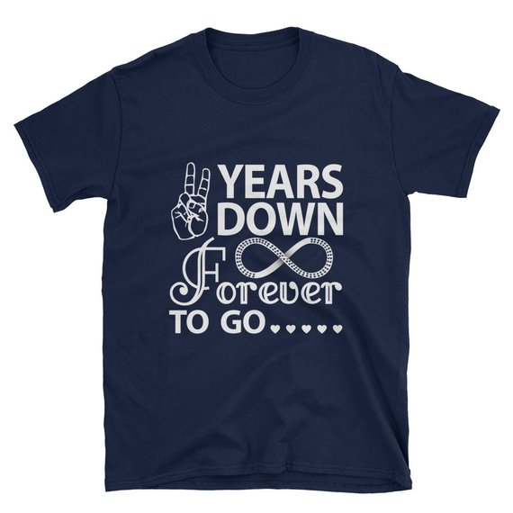 955db9f520 2 years down forever to go shirt/ years down forever to go t-shirt/ couple  shirt/ husband and wife s