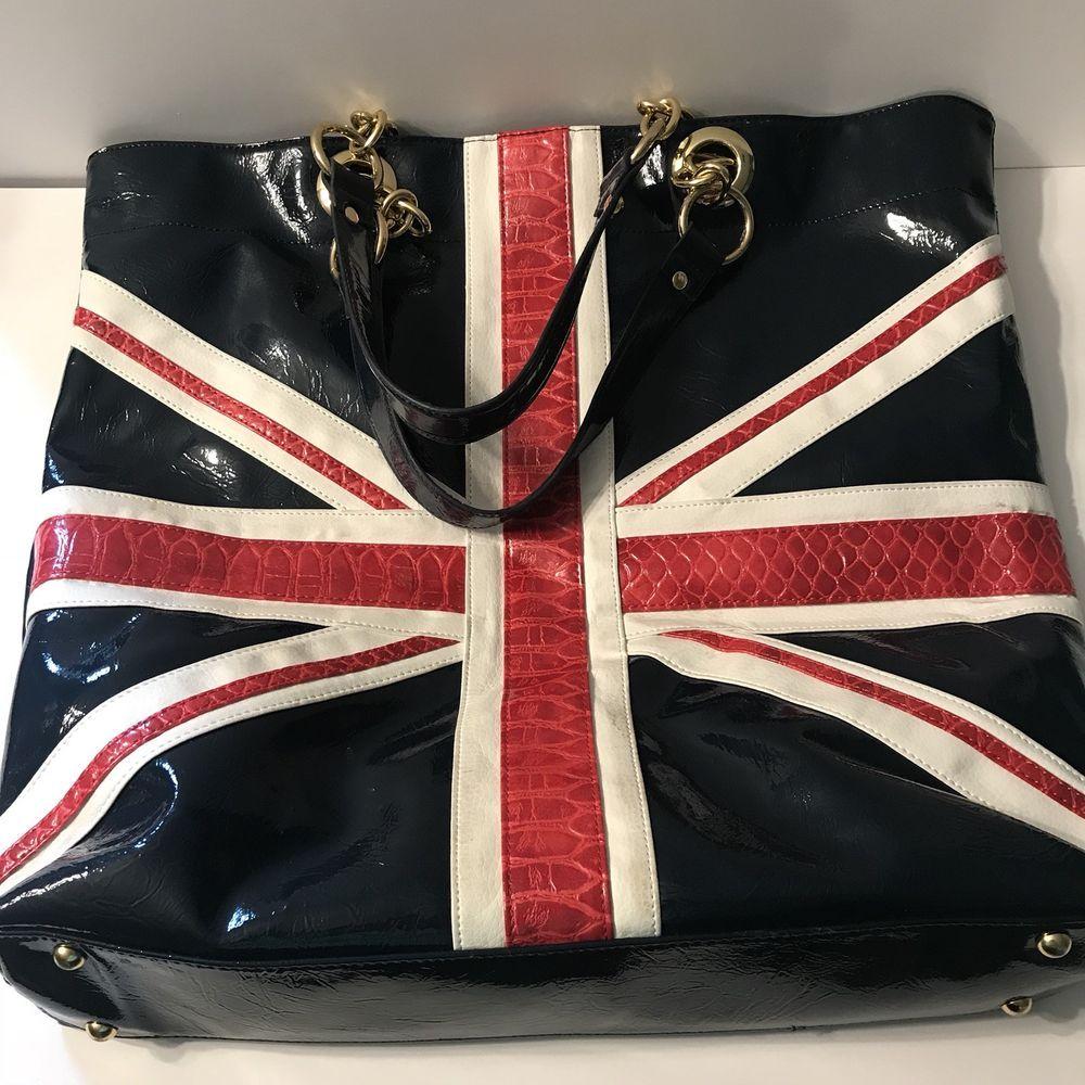 Twiggy London Handbag Great Britain British Flag Purse