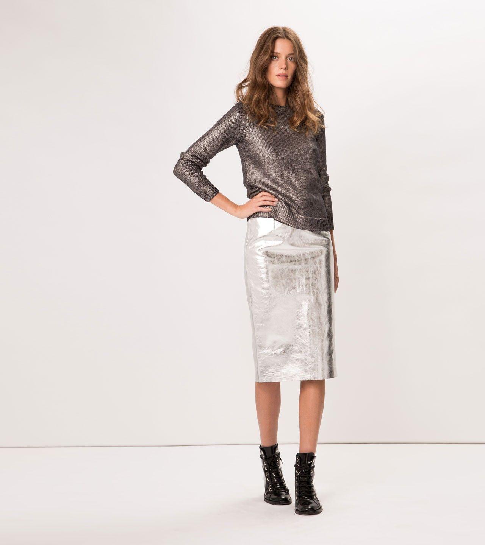 b7f03c992a maje GALLIUM Metallic Leather Skirt at Maje US | Wear | Leather ...