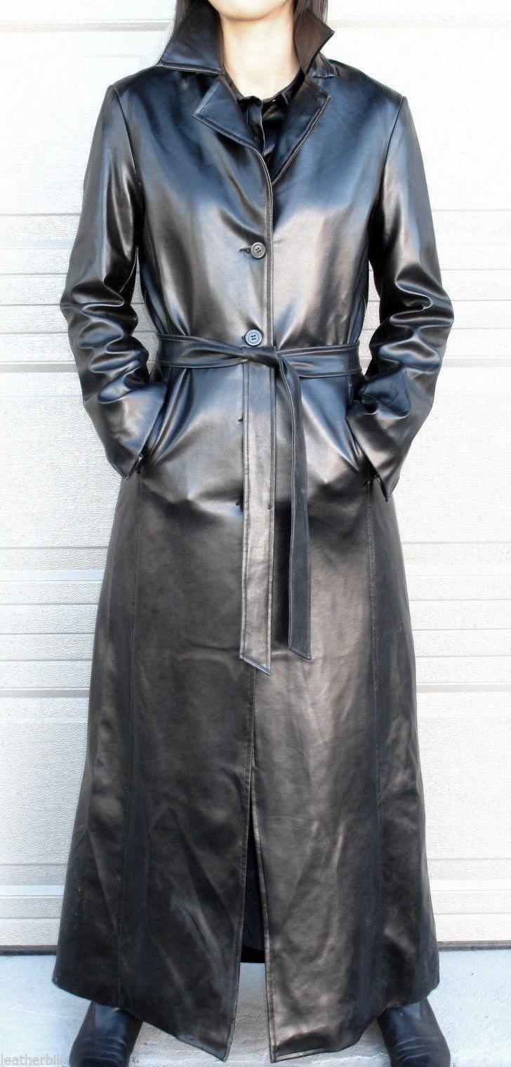 a81c52f108f4 LONG SHINY PVC VINYL TRENCH COAT - RUBBERY BLACK CHARLOTTE RUSSE M
