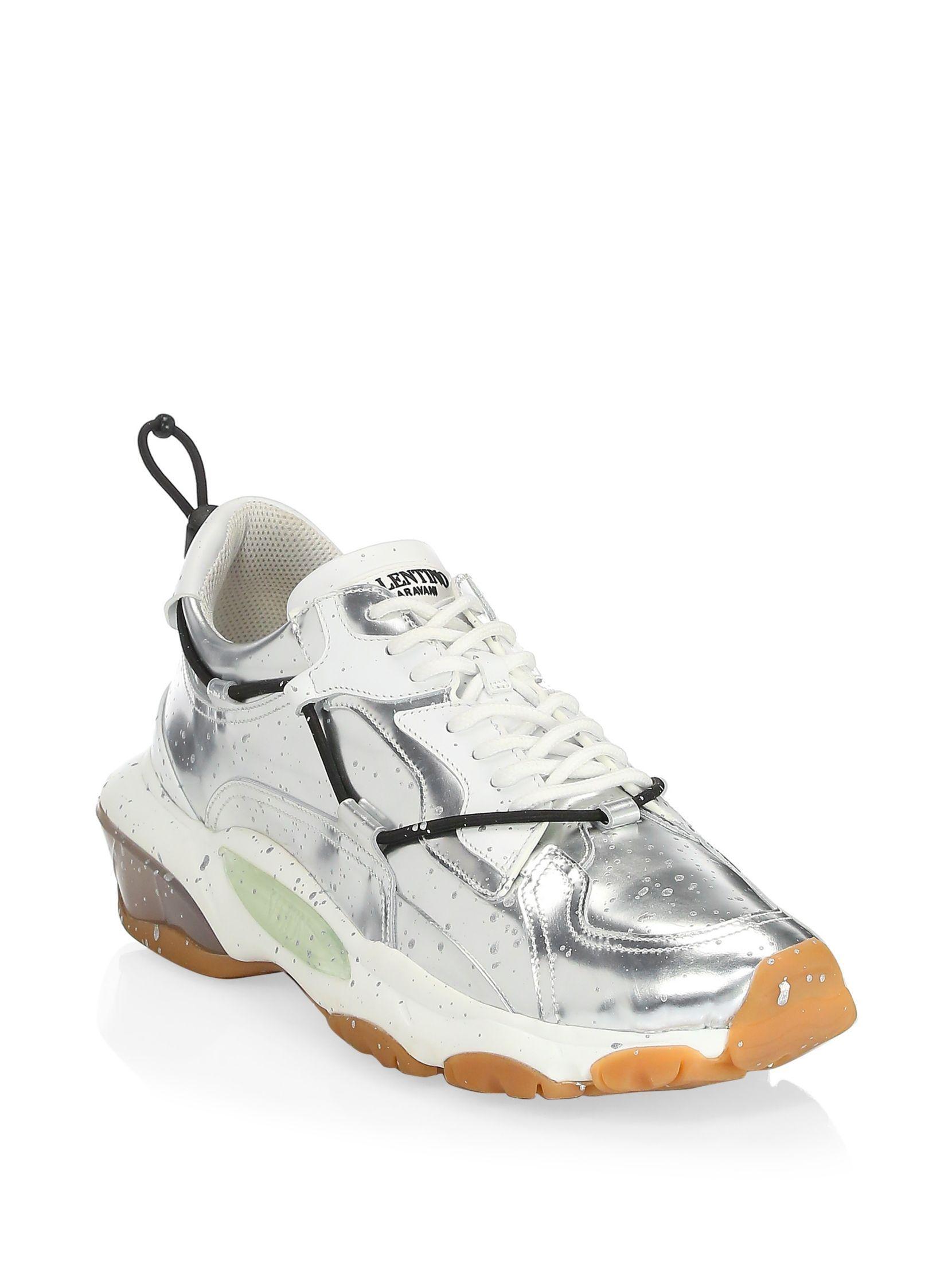5d0d9c06de6c5 Valentino Garavani Metallic Splatter Bounce Sneakers | Shoes ...