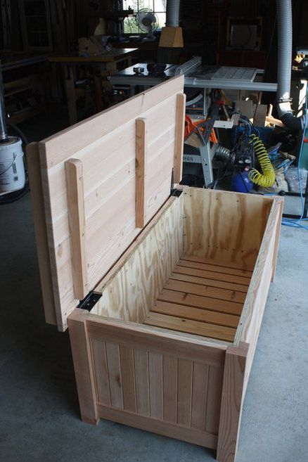 From This To A Storage Bench Diy Storage Bench Outdoor