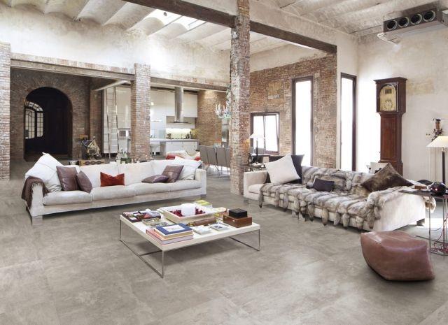 Wohnzimmer Im Loft Stil Typische Gestaltungselemente Wandputz Backsteinwand