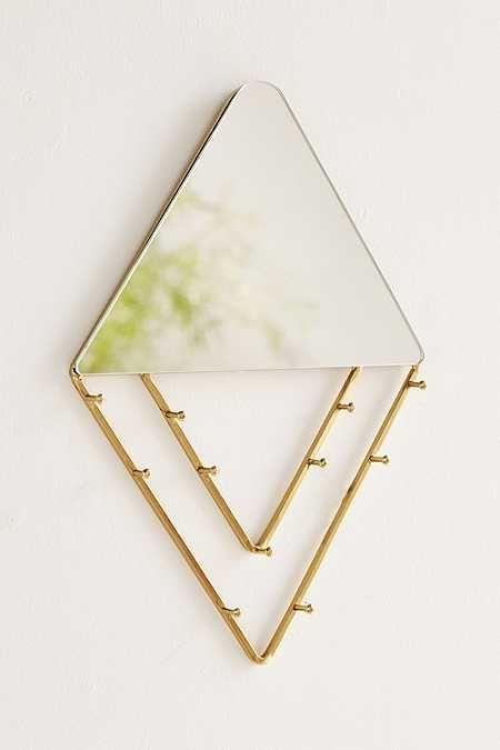 Alexia Line Jewelry Storage Hanging Mirror
