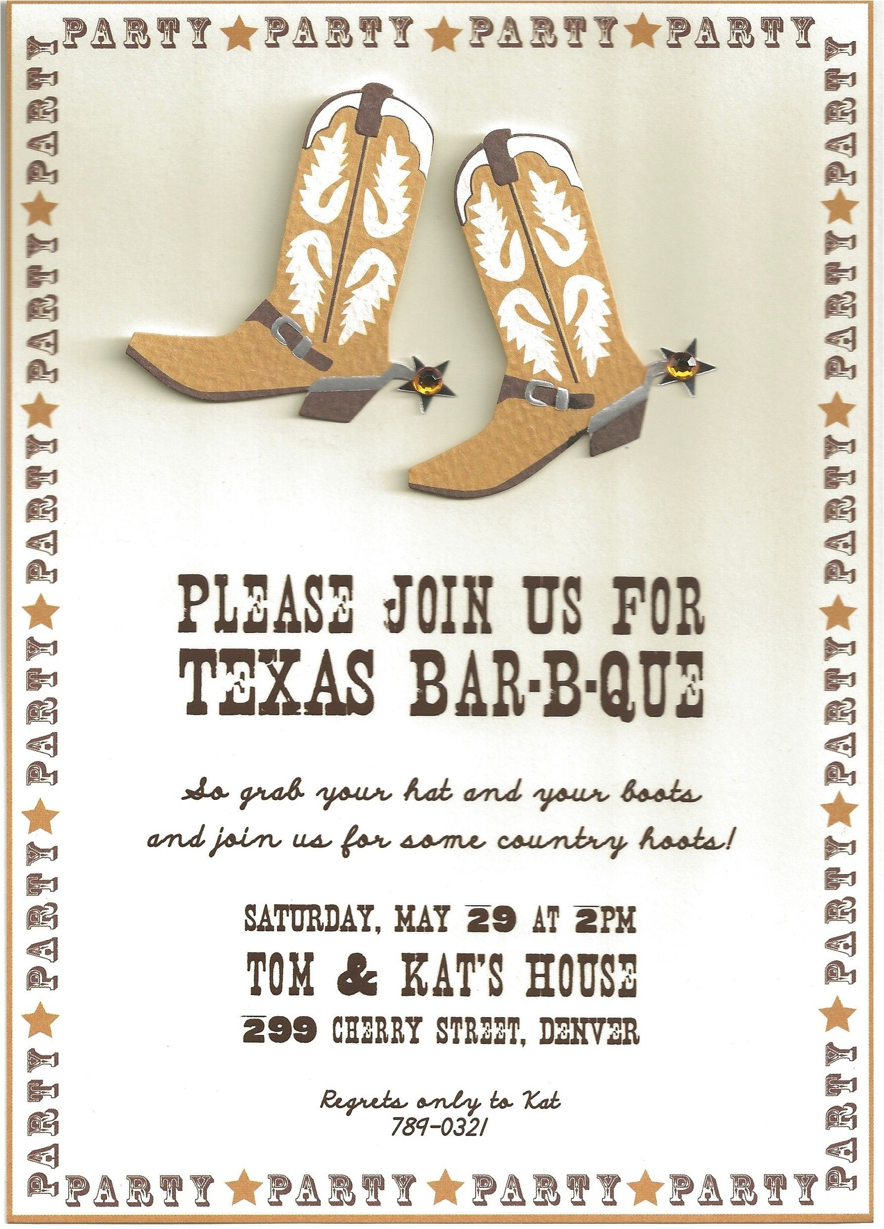Cowboy Party Invitation Wording - Invitation Templates | Service ...