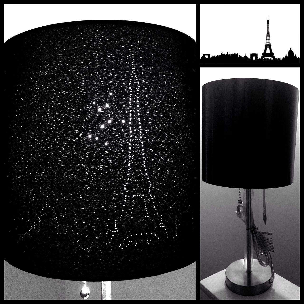 Attractive DIY Paris Skyline Eiffel Tower Lampshade