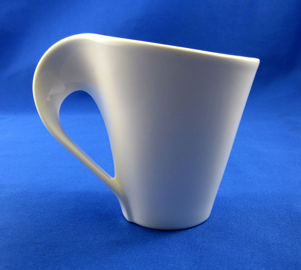 Villeroy boch white flat cup mug new wave caffe coffee for Villeroy boch wave