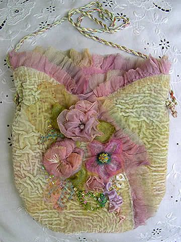 embroidered flowers hearts... Ancient ribbon