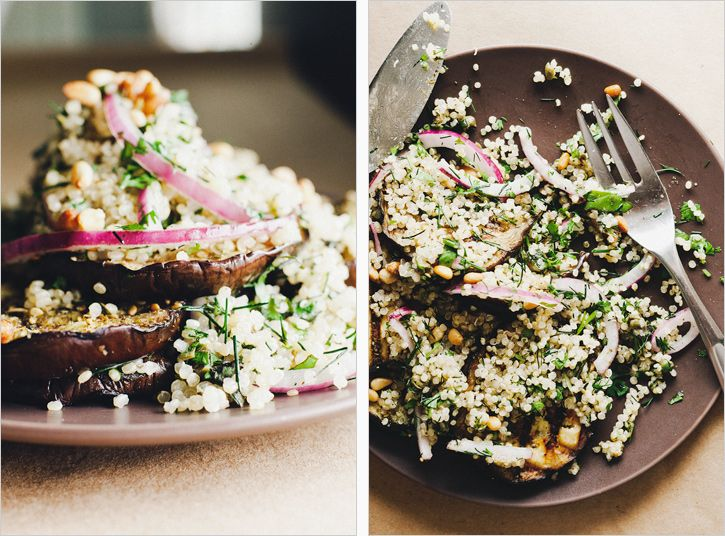 Grilled Eggplant with Herbed Quinoa, Sprouted Kitchen
