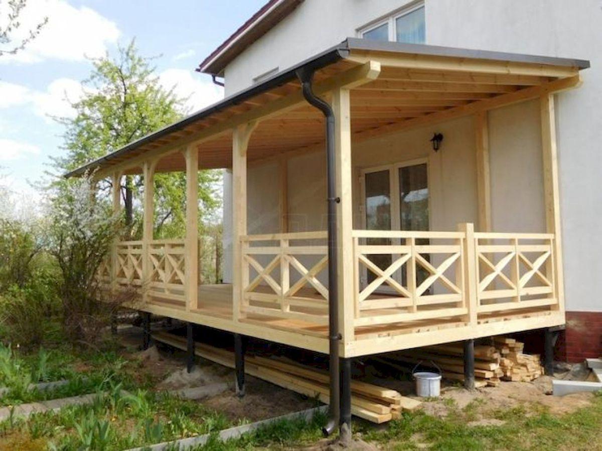 65 stunning farmhouse porch railing decor ideas (22