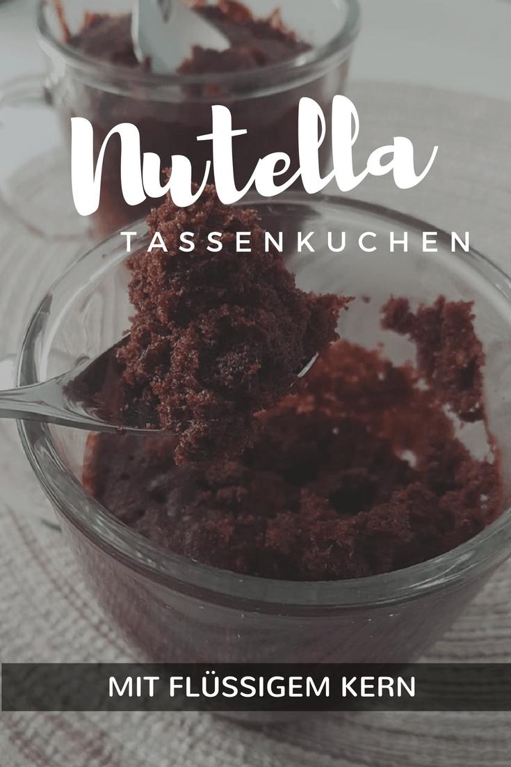 Schnelle Tassenkuchen Mit Nutella Mandel Zitrone Mug Cake Rezept