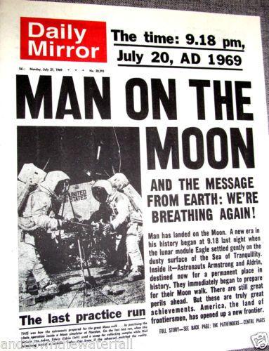 Moon Landing-July 20, 1969 | Childhood Memories | Pinterest  |Huntsville Newspaper Moon Landing