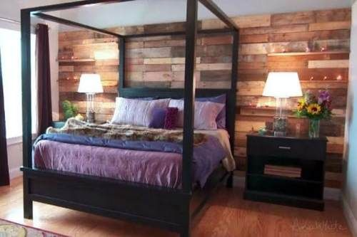 Revestimiento De Paredes Con Maderas Macizas Recicladas - paredes de madera