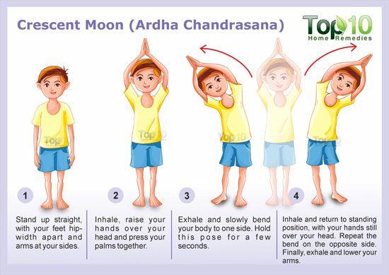 Crescent Moon Pose Yoga