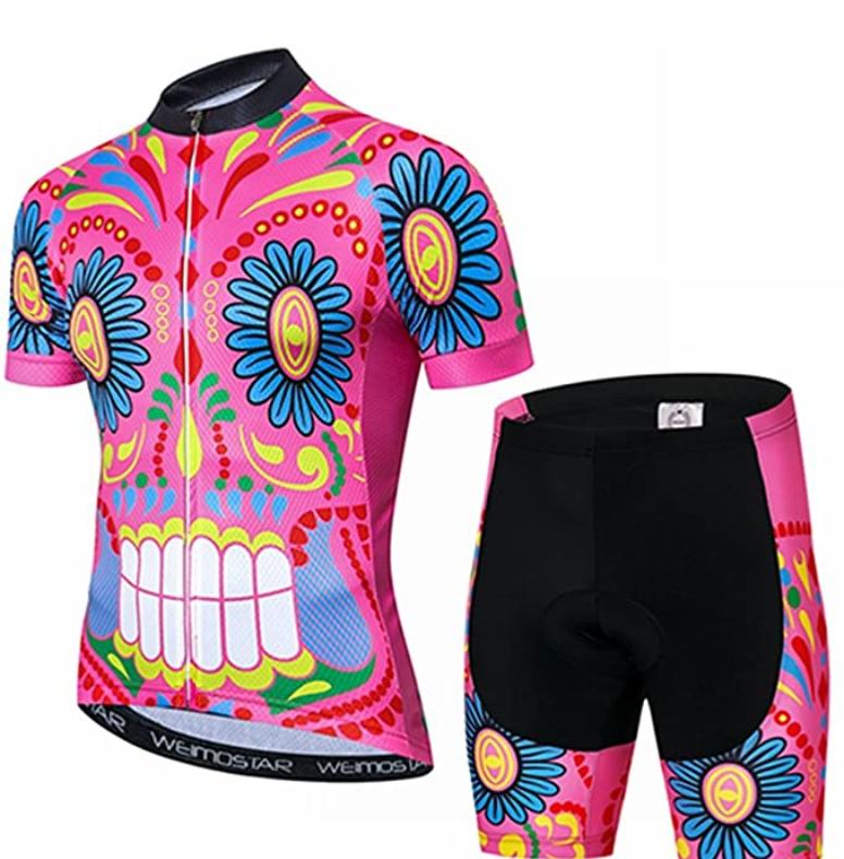 Mens Cycling Jersey Short Sleeve Biking Shirts Bike Clothing Bicycle Jacket with Pockets Breathable