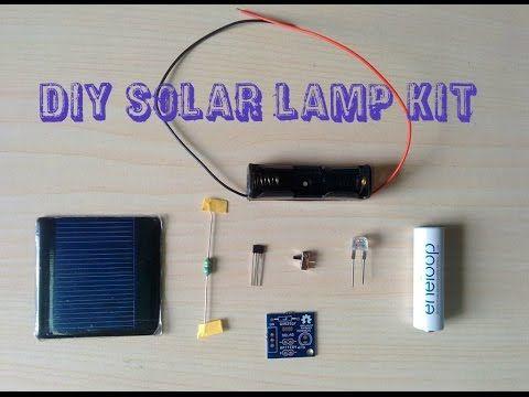Assembling Of Diy Solar Lamp Kit Youtube Solar Lamps Diy
