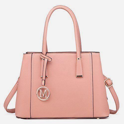 eb10b51592 Miss Lulu simili cuir sac à bandoulière sac à main élégant Design Top  Handle #Fashion pour femme (1748 Rose) #hobohandbagsdesigner hobo #purses  and bags