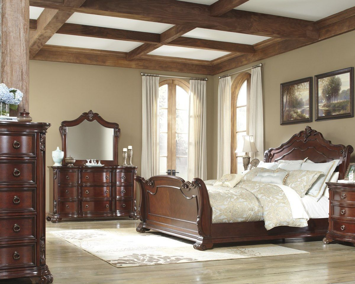 Ashley Furniture B698 Martanny King Size Bedroom Set Sleigh