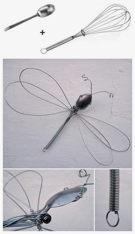 Diy whisk dragonfly diy ideas crafts do it yourself handmade 70 constructions of wire that you can make yourself solutioingenieria Gallery