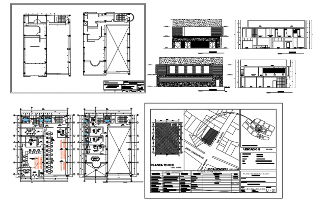 Architectural layout plan of a Municipal Housing dwg file