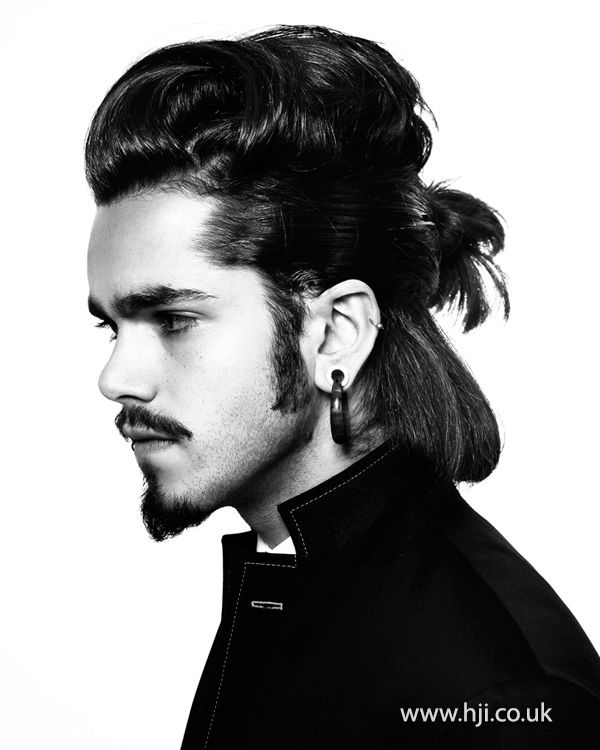 Mens Long Hairstyle With Manbun And Quiff Hairstyle - Mens hairstyle 2015 quiff
