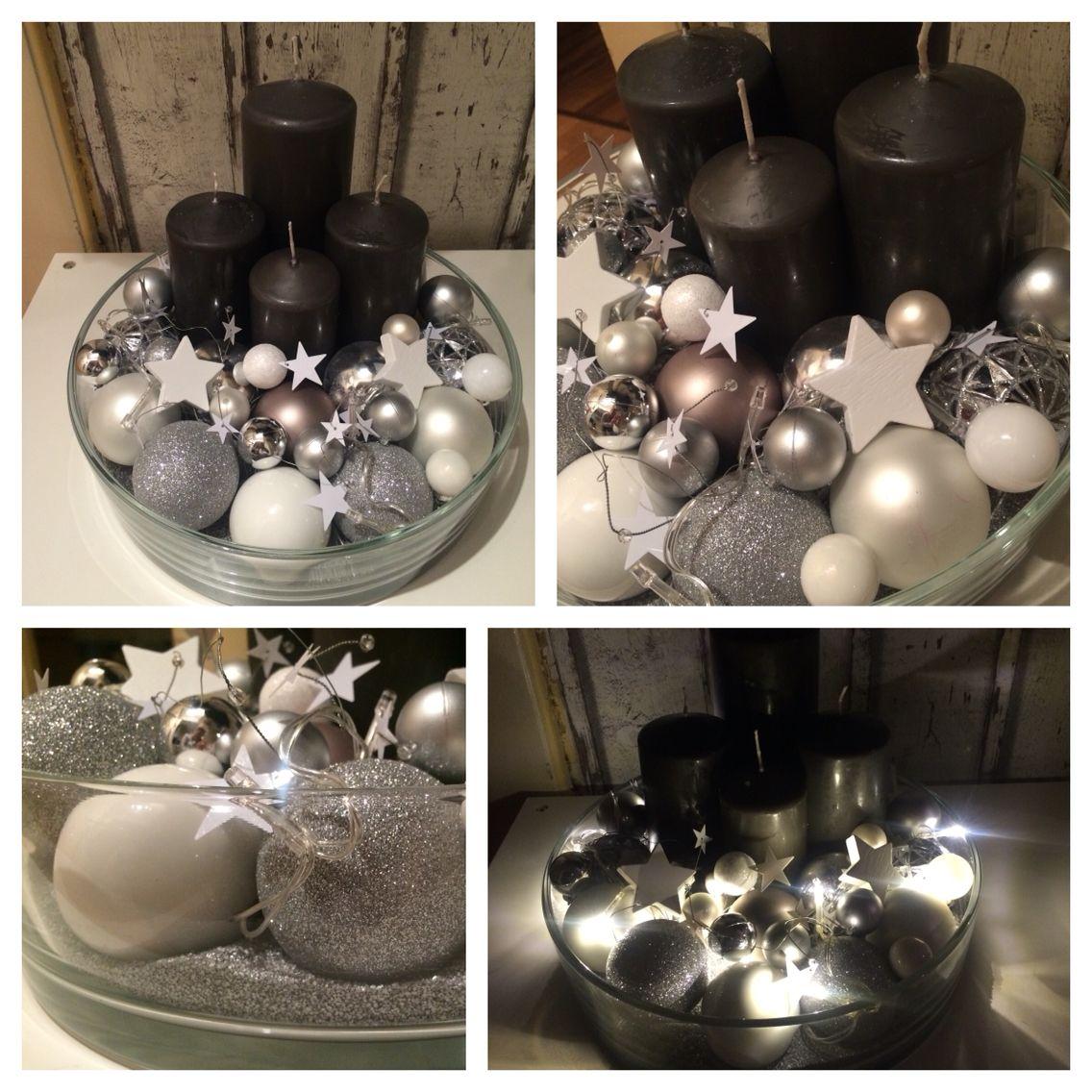 Deko Weiß Silber.Adventskranz Grau Weiß Silber Weihnachten Dekoration