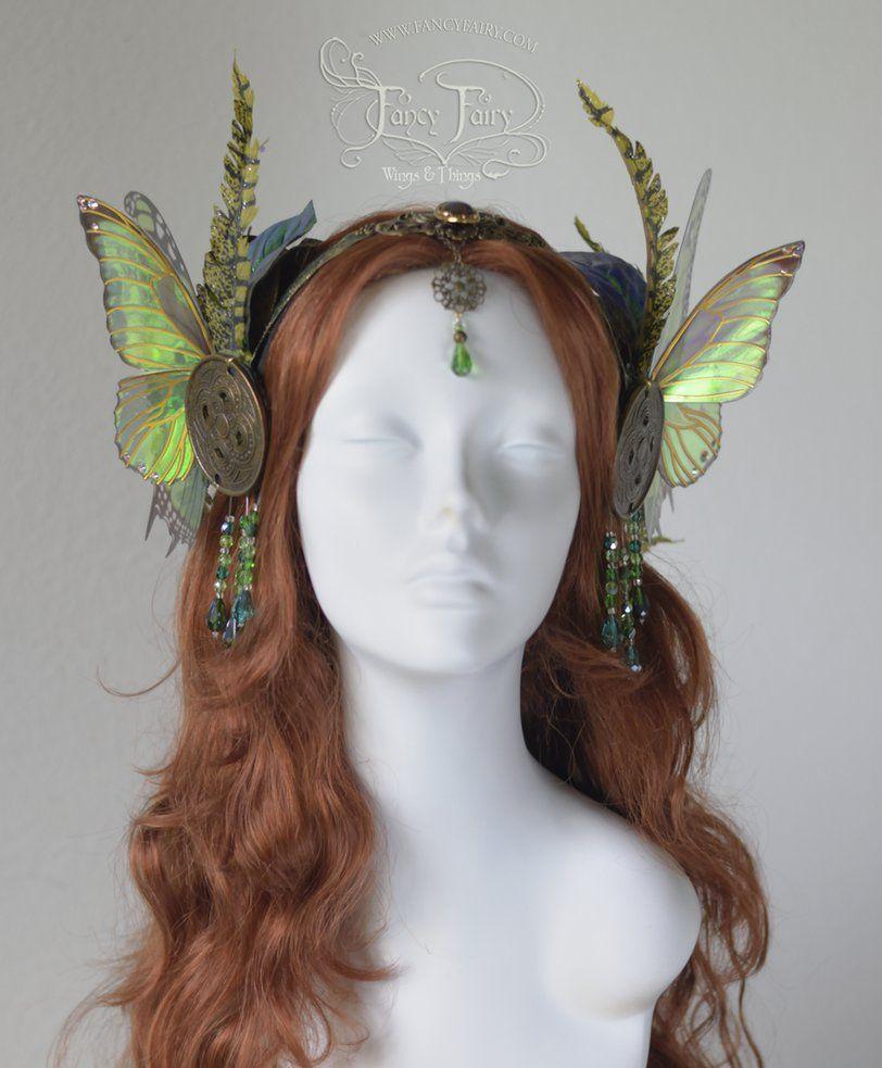 Absinthe Fairy / Green Fairy headdress & Absinthe Fairy / Green Fairy headdress by FaeryAzarelle.deviantart ...