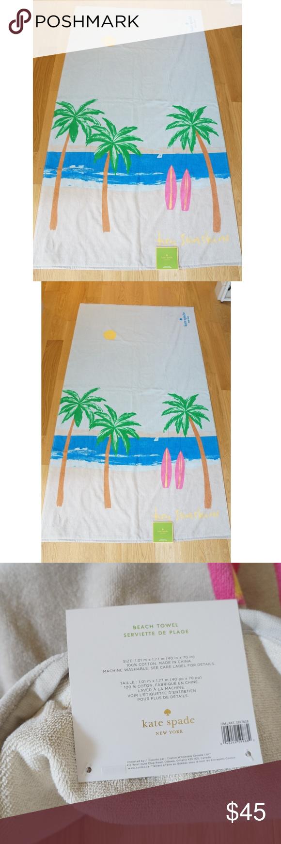KATE SPADE ♠️ Huge XL Lounge Pool Beach Towel New authentic KATE SPADE ♠... - #Authentic #beach #Huge #KATE #Lounge #Pool #SPADE #towel