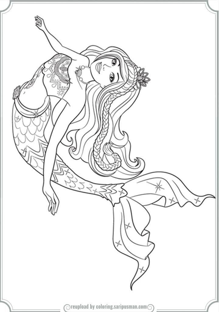 Barbie Mermaid Tale 2 Coloring Pages mermaid Pinterest Mermaid