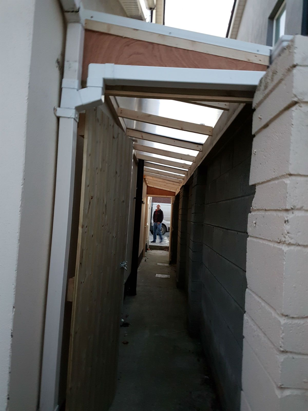 Roof Over Side Passage Lean To Roof Lean To Curved Pergola
