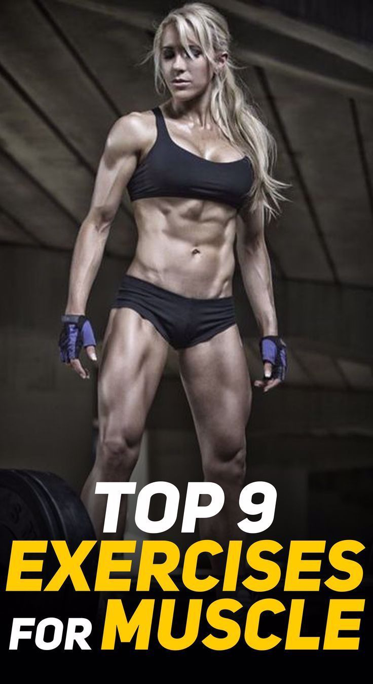 Here are the Top 9 Exercises that will help you add on muscle and strength! #fitness #gym #exercise...