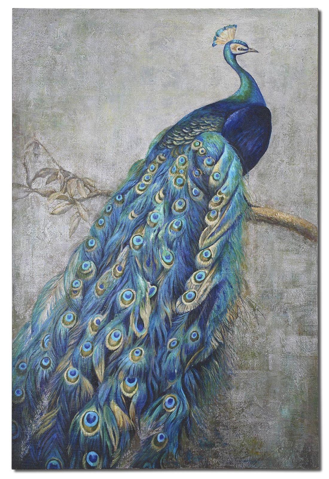 2e1f32e31b Proud Papa Hand Painted Art | Nature Illustrated 1 | Peacock wall ...