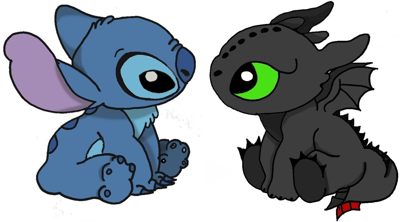 Stitch Und Ohnezahn Stitch And Toothless Stitchdisney Stitch Und