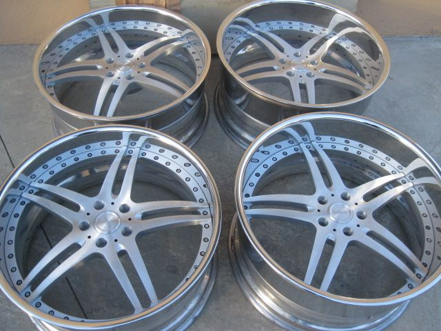 22 Vellano Vsh Split 5 Star Brushed Bmw E65 Forged Wheels Car