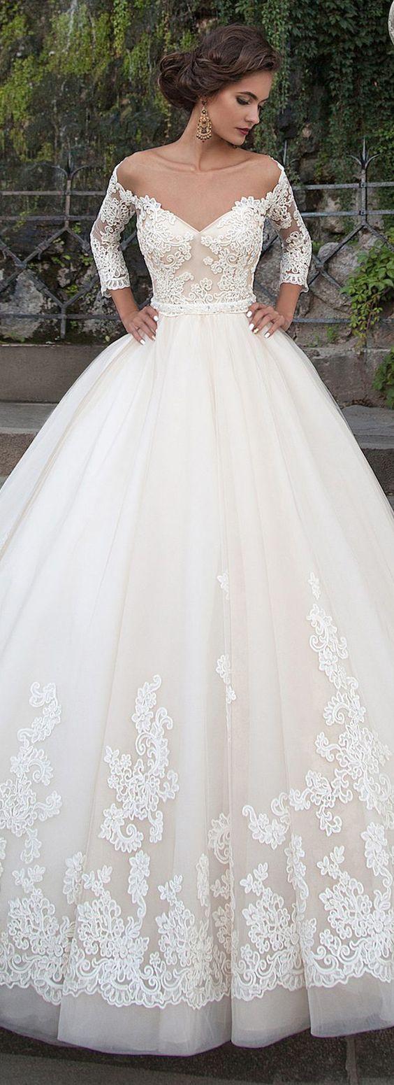 2017 a-line off shoulder wedding dresses: