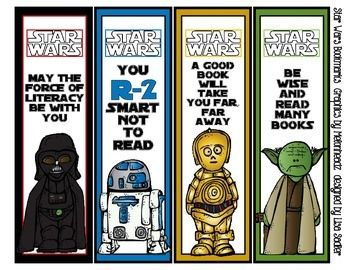 photograph about Star Wars Bookmark Printable referred to as Bookmark Monday #maythefourthbewithyou Clroom Star