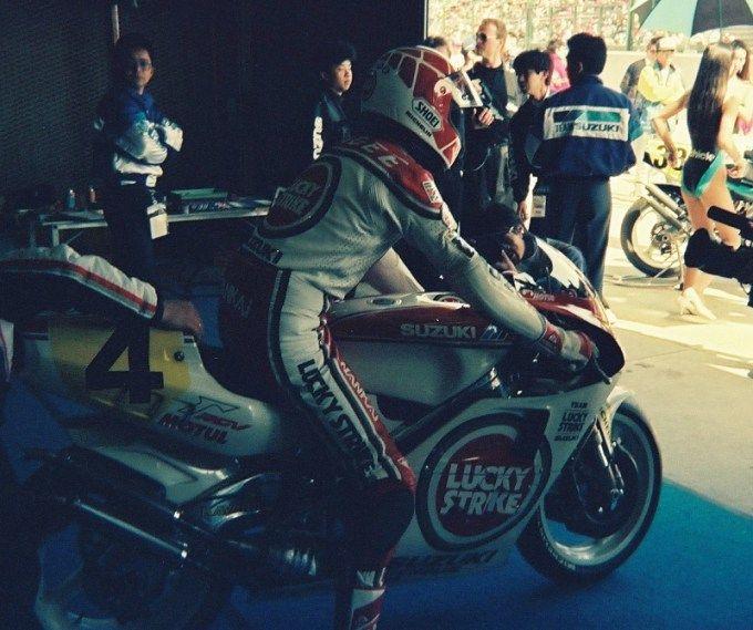 1990/3/25 日本GP 鈴鹿サーキット GP500 LUCKY STRIKE SUZUKI RGVΓ500 ケビン・マギー
